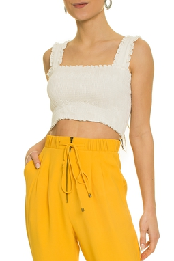 Top Cropped Mary Lastex Off White - DG17424