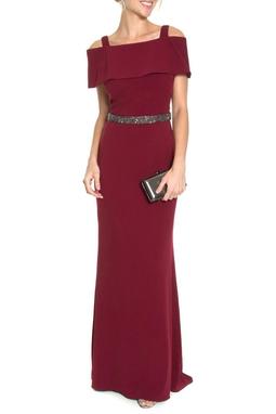 Vestido Adelita Vinho