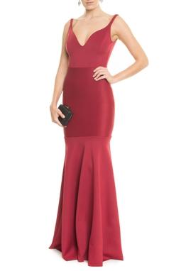 Vestido Aline Vinho