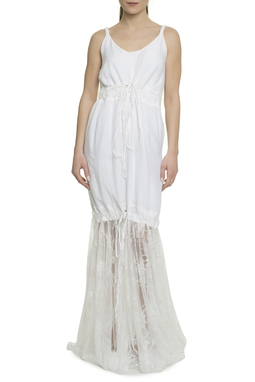 Vestido Amy Longo Branco - 11VT531