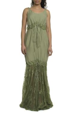 Vestido Amy Longo Verde - 11VT531