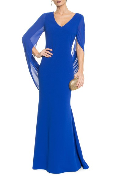 Vestido Anelise Blue Badgley Mischka