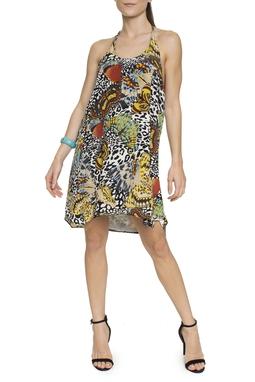 Vestido Animal Print Borboletas - DG15749