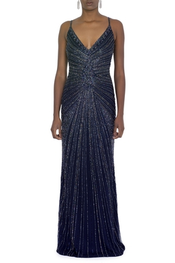 Vestido Ariadne Dark Blue