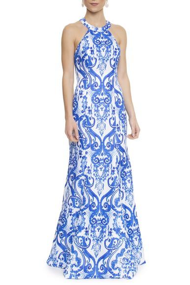 Vestido Azule - DG14087 Essential Collection