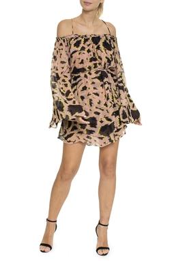 Vestido Bata Camadas Estampa Texas - DG16419