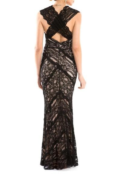 Vestido Black Lace Nicole Miller
