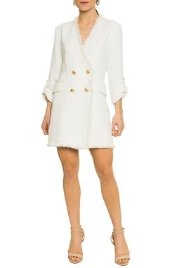 Vestido Blazer Branco Tweed - DG17254