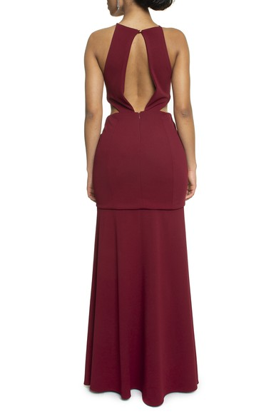 Vestido Bolton Marsala Basic Collection