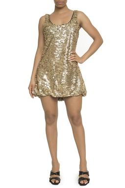 Vestido Bordado Dourado - DG18213