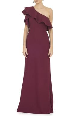 Vestido Bordeaux