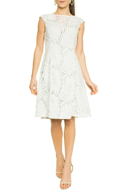 Vestido Branco Aplicações - DG17590