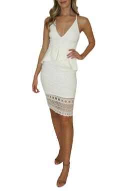 Vestido Branco com Renda - BMD 9504