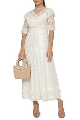 Vestido Branco Manga Curta