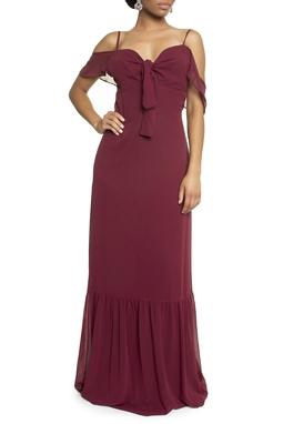 Vestido Buriti Marsala - DG13611