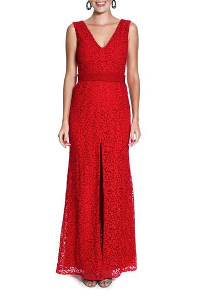 Vestido Camélia Vermelha Marcelo Quadros