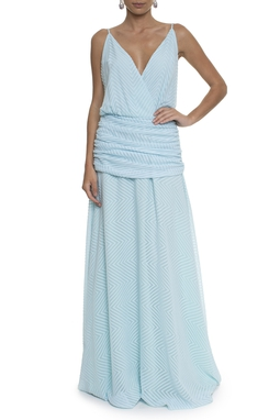 Vestido Charlize Line Light Blue