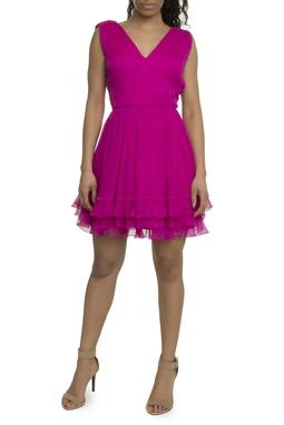 Vestido Chiffon Seda Pink - DG17855