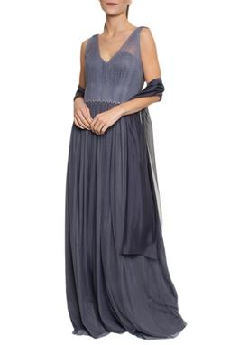 Vestido Chumbo Tecido Pois - DG16852