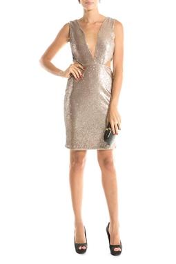 Vestido Clara Metalico