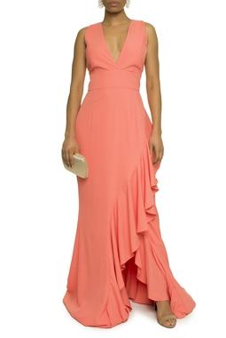 Vestido Coral Babado - DG17614