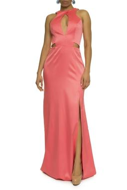 Vestido Coral Recortes - DG17623