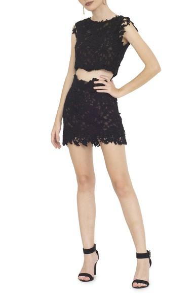 Vestido Cropped Black Guipir Lethicia Bronstein