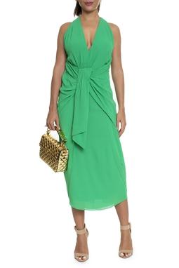 Vestido Cruzado Pareô Verde - DG16195