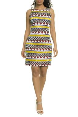 Vestido Curto Bordado Color - DG17771