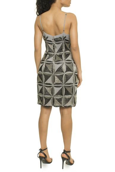 Vestido Curto Bordado Geometrico - P17EPVT10 Bobstore