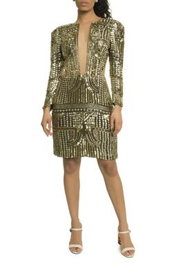 Vestido Curto Bordado ML - DG17767