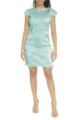 Vestido Curto Bordado Tiffany - DG17752