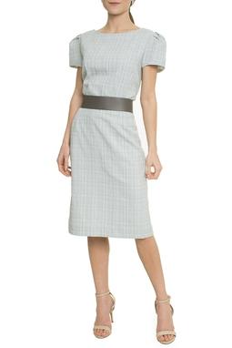Vestido Curto com Cinto Manga Curta - DG17742