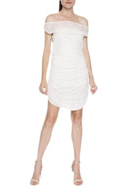 Vestido Curto Drapeado Ombro A Ombro - DG15803