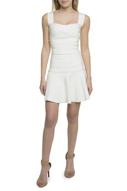 Vestido Curto Faixas Off White - DG17728