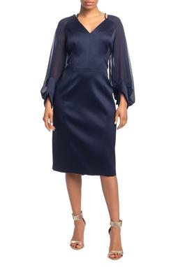Vestido Curto ML Azul Marinho HM - DG18799