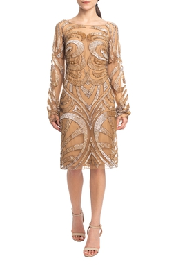 Vestido Curto ML Dourado HM - DG18781