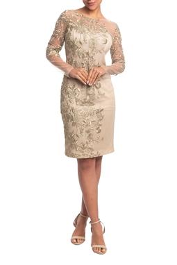 Vestido Curto ML Dourado HM - DG18816
