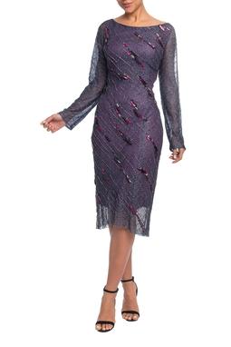 Vestido Curto ML Roxo HM - DG18787