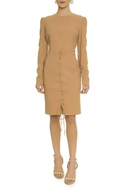 Vestido Curto Nude Amarração - DG17251