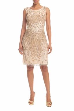 Vestido Curto Nude - DG18390