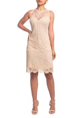 Vestido Curto Nude HM - DG18814