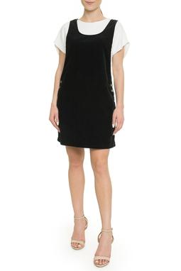 Vestido Jardineira Preto - DG17968