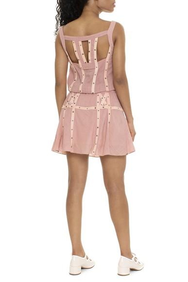 Vestido Curto Regata Rosa - DG15768 Cris Barros