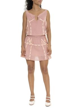 Vestido Curto Regata Rosa - DG15768