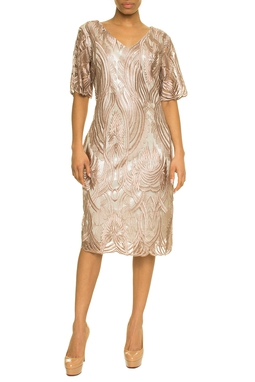 Vestido Curto Rose - DG17636