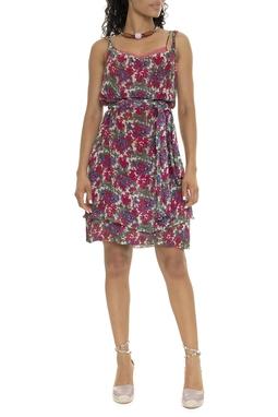Vestido Curto Seda Estampa Floral - DG16000