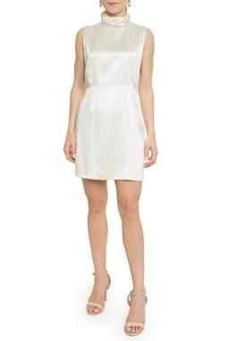 Vestido Curto Seda Pérola - DG17976