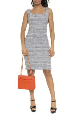 Vestido Curto Tecido Mesclado - DG16466