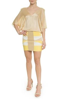 Vestido Curto Tricolor - DG18028